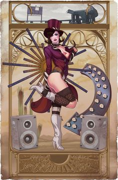 The deadly and beautiful Mad Moxxi by the always amazing Andrew Hibner