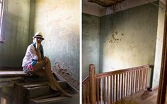Beautiful colours are seen on the walls within the shells of the old houses at Kolmanskop. Christmas 2014, Ghost Towns, Summer Travel, Old Houses, Journals, Shells, Old Things, Colours, Beautiful