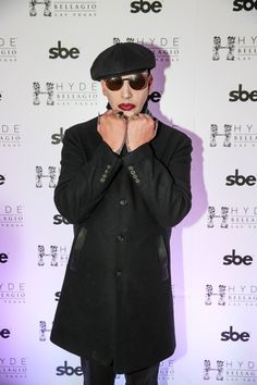 Marilyn Manson Throws a Black Heart Ball at Hyde