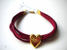 Handmade Jewelry Rg: Bracelet with a heart of gold