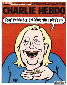 Charlie Hebdo - N° 1221 - Mercredi 16 Décembre 2015 - Couverture de Coco