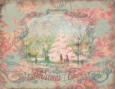 Pink Christmas Card Image