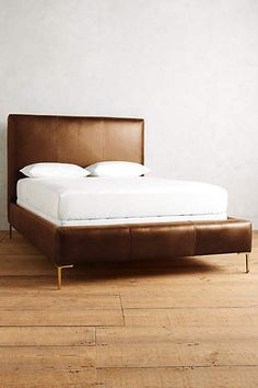 $3598 Premium Leather Edlyn Bed - anthropologie.com
