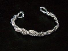 Hand woven Metal Wire Thin Cuff Style Bracelet by MontourDesigns, $25.00