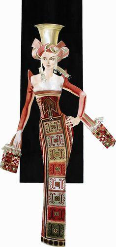 Details of the Armenian national costume... Aycemnik Ghevondyan