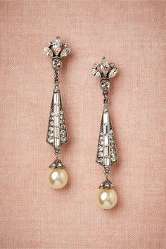 #artdeco earrings | a perfect accent for #Gatsby or #1920s weddings