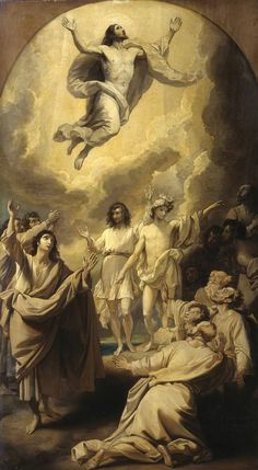 Painting of Jesus Christ and the Ascension to Heaven