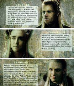 Oropher // Thranduil // Legolas // #tolkien #thehobbit #lotr