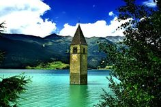 Italy Trentino-Alto Adige/Südtirol  beautiful Reschensee- Graun im Vinschgau,about 350 miles northwest from Roma