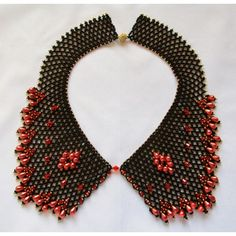 Black and Red Collar