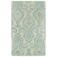 Found it at Joss & Main - Infinity Blue Floral Wool Hand-Tufted Area Rug