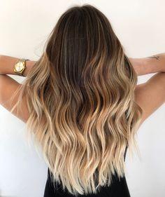 ¡Colores de cabello que son tendencia este 2021? Ombre Hair Color, Blonde Ombre, Brown Hair Colors, Blonde Highlights, Dark Brown To Blonde Balayage, Caramel Highlights, Color Highlights, Hair Colours, Blonde Brunette