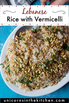Lebanese rice with vermicelli is a delicious Middle Eastern side dish. It's made with only three ingredients and makes the perfect side dish for any main dish.#vermicellirice #lebaneserice #middleeasternrice #middleeasternfood Middle Eastern Rice, Middle Eastern Recipes, Arabic Chicken Recipes, Main Dishes, Side Dishes, Lebanese Recipes, Mediterranean Diet, Favorite Recipes, Supper Ideas
