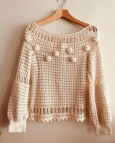 Hand crochet blouse,Hand made blouse,Bohemian blouse,Weddin Crochet Bolero Pattern, Crochet Blouse, Easy Crochet, Knit Crochet, Crochet Fashion, Beautiful Crochet, Crochet Designs, Crochet Clothes, Pulls