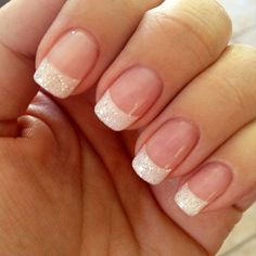 Glitter French - The Prettiest Wedding Nails For Your Big Day - Photos