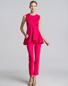 Cropped Tropical Wool Pants by Piazza Sempione at Bergdorf Goodman.
