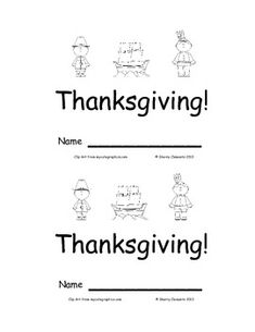 Emergent Reader: Thanksgiving: Sight Words (here, is, the) - Many more emergent readers available - 8 pages - $