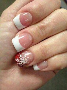 Single Snowflake Nails