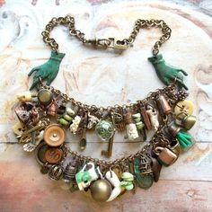 RESERVED LISTING Romany Belle - Handmade Vintage Inspired Gypsy Bohemian Statement Charm Bib Necklace