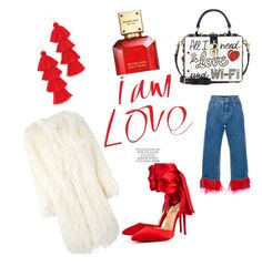 """Red 'n go"" by maria-vosnidou on Polyvore featuring Christian Louboutin, Misa, Dolce&Gabbana, DKNY and Michael Kors"