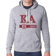 Campus Classics - New! Kappa Alpha Heather Gray University Fashion Hoodie: $35.95