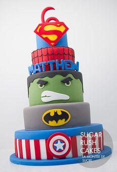 Gâteau Super Hero