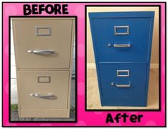 File Cabinet Makeover: How to Cover a File Cabinet With Contact ...