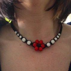 Final piece making a full set of flower shambala style costume jewellery
