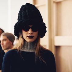 Model Eliza Hartmann for Timo Weiland AW15 NYFW 2/12/15
