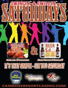 Starting this Saturday - Swingin' & Swillin' Saturdays! Specials for Molson Canadian, Canadian 67 and chicken wings. Chicken Wings, Event Planning, Events, Buffalo Wings