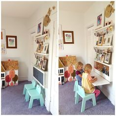 Build your own Murphy Table for kids... it's like a wall-mounted secretary desk with all that storage inside! {Sawdust and Embryos}:
