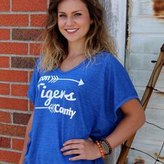 Macon County Tigers arrow vintage feel poncho, custom for our store