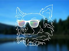 Chihuahua Decal Long Haired Dog Vinyl Decal Car by ShadedLove
