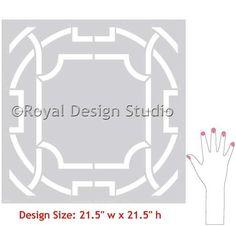 Modern Wall Stencils | Contempo Trellis Stencil | Royal Design Studio