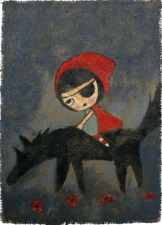 Hunting Party - print little red riding hood LRRH