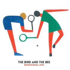 Inara George (The Bird And The Bee) recreational love album cover Geoff Mcfetridge