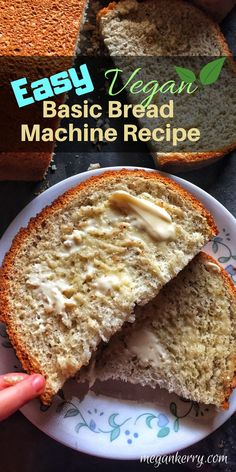 This VEGAN Bread Machine Recipe is so easy! Your home will be smelling delicious in around 3 hours (all of that time is hands off!) Why pay a premium price for vegan bread when you can make your own at a fraction of the cost?! #veganbread #veganrecipes #breadrecipe #breadmachinerecipe #easybreadrecipe