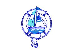 #embroidery #embronetto  Sailing Embroidery Designs 03