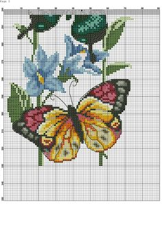 Cross stitch butterflies and c 123 Cross Stitch, Cross Stitch Bird, Cross Stitch Animals, Cross Stitch Designs, Cross Stitch Patterns, Cat Cross Stitches, Cross Stitching, Cross Stitch Embroidery, Butterfly Cross Stitch