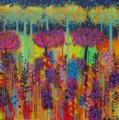 Lots of Wild flowers - Claire West