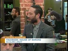 CTV Morning Live's Sarah Freemark spent the morning at House of Barons on Sussex Drive. You can get a haircut and a shave at the new barber shop in the ByWar. Baron, Barber Shop, Shops, Tents, Barbers, Barbershop, Retail Stores