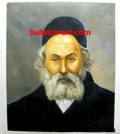 "A Jewish Art  Portrait real oil painting of the Chofetz Chaim.  Order Today & Get a Free Van Gogh ""Sunflowers"" oil painting with any order.   only at http://www.judaica-art.com"