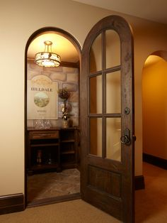Like this too. Love the character of the round door and hardware.
