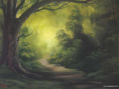 From Bob Ross - lovely! The Road goes ever on and on....