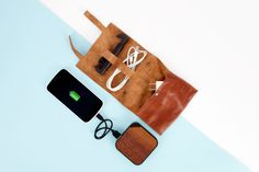 The Refined PJ Gift Bundle - The supple leather Cordito paired with the sophisticated Wood Paneled Backup Battery is classing the place up ($99.00, http://photojojo.com/store)