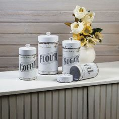 Vintage Tins Kitchen Canisters 12808