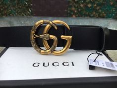 fe709843dd0 Gucci Gold Buckle Black Leather Belt Brand new Size 115 or Includes box and  dust bag Thanks for viewing!