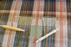 cross patch inlay weaving | por Avalanche Looms