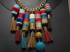 Fabric Necklace - Collar de tela