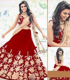 New Banglori Net With less Border & Hevy Embroidery Fancy lehenga Choli Red Lehenga, Party Wear Lehenga, Lehenga Choli Online, Ghagra Choli, Buy Dress, Sari, Fancy, Formal Dresses, Embroidery